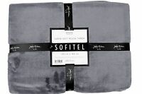 Super Soft Plush Throw Rug Blanket Charcoal Acrylic 130 x 180