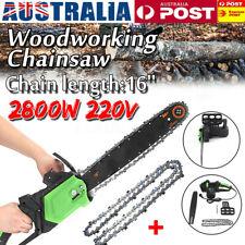 AU 16'' 2800W Electric Chainsaw Saw Chain Cutter Pruner Tree Woodworking Saw