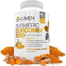 Turmeric Curcumin Extra Strength 1200mg with Bioperine (Black Pepper) - 120 F...
