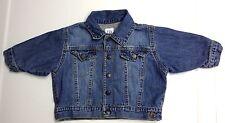 Baby Gap 3-6M Boy Jersey Lined Denim Button Up Blue Jean Jacket VGUC