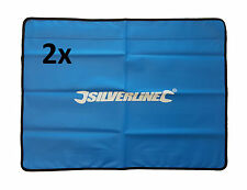 2x Silverline Workshop Auto Car Magnetic Pvc Wipe Clean Wing Cover Protector Mat