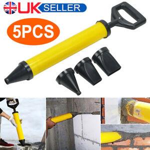 Cement Caulking Gun Pump Mortar Pointing Grouting Gun Sprayer Tool + 4 Nozzle UK