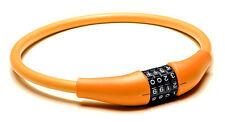 EyezOff Câble Antivol à Combinaison pour Vélo, Orange, 60cm