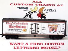 HO CUSTOM LETTERED SATIRE HILLARY'S CHICKEN SHACK COLLECTIBLE REEFER. LOT D