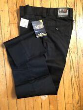 5.11 Tactical 74338 Black PDU Uniform Slacks Pants 30 Unhemmed Expandable Waist