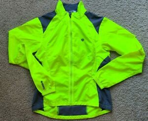 Pearl Izumi Womens Size  Small Yellow neon High Visibility Cycling Wind Jacket