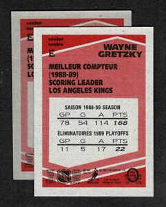 1989-90 O-Pee-Chee Wayne Gretzky Strathcona Light Stock Box Bottom Card, Mint