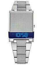 New Bulova 96C139 Computron LED Digital Limited Edition Stainless Steel Watch
