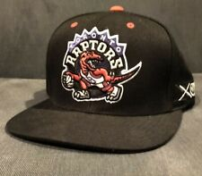 Toronto Raptors Mitchell & Ness Black Snapback Cap Hat With Vintage Logo NBA 🏀