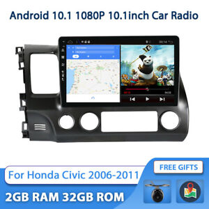 "10.1"" Android 10.0 Car Radio Stereo GPS Navi WIFI BT For Honda Civic 2006-2011"