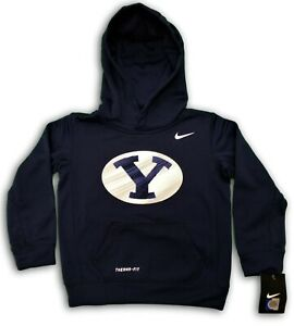 New Brigham Young University Nike Boys Girls Therma-Fit Hoodie Size 5, Official
