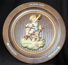 Vintage 1972 Anri Schmid Wood Hand Carved&Painted Welcom Home Décor Plate