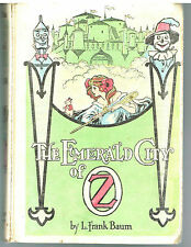 The Emerald City Of Oz by L.Frank Baum 1910 John Neill Illus. Rare Book!  $