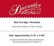 DECO Mini Sign Caring Nurse Wood Ornament RN LVN Hospice Hospital Thank You Gift