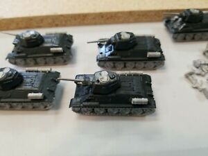 Flames of war, 15MM, Russian Army, 5- T34 tanks, metal