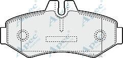 Apec PAD1104 Rear Brake Pad Set