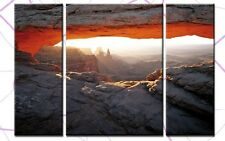 THE VIEW 3 BILDER LEINWAND120x80 USA UTAH GRAND CANYON
