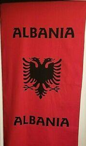 """Albanian Flag Eagle Red Bath Peshqir Beach Towel Souvenir 58""""x27"""" 147x69cm"""