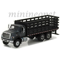 GREENLIGHT 45010 B 2017 INTERNATIONAL WORKSTAR PLATFORM / STAKE TRUCK 1/64 BLACK