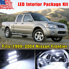 13 PCS Pure White LED Lights For Nissan Frontier 1999-2004 Interior Package Deal