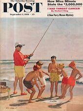 1956 Saturday Evening Post September 1 -Perry Mason; Norfolk VA; West Memphis AR