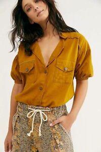 Free People So-Fari Bodysuit Sz XS Uk 6 8 10 Golden Ochre *Sample*