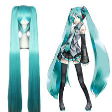 Anime Vocaloid Miku Hatsune 120cm Wig Cosplay Costume Halloween Party Toy Prop