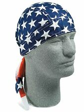USA Flag American Flag Hat Wrap Head Wrap Doo Rag New Biker Cap Hat USA SHIPPER