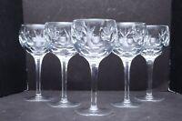 "Gorham Bamberg Balloon water goblets wine glasses hocks Set 5  Cut Crystal 7.5"""