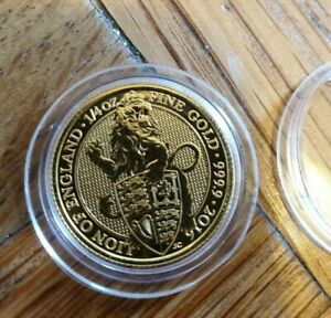 1/4oz gold coin. Queens beasts gold coin. Lion of England queens beasts gold