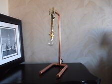 """Handmade Table Lamp """"The Drip"""" Brass Barrel Tap On Copper Stand"""