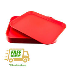 """Fastfood Red Plastic Cafe Tray ( 352 x 271 mm )14""""x 10.5"""" (Pack of 10 trays)"""