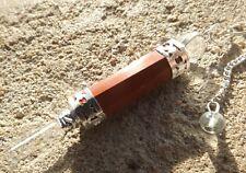 Red jasper et quartz multi facettes baguette guérison radiesthésie pendule