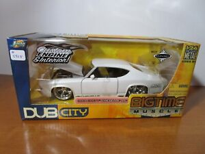 JADA 1/24 BIGTIME MUSCLE WHITE 1969 CHEVY CHEVELLE SS 427 CUSTOM FACTORY SEALED