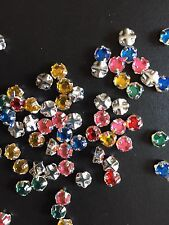 Sew on Rhinestones..1440 Pcs (10 Gross). Multi Colors. Free Ship USA
