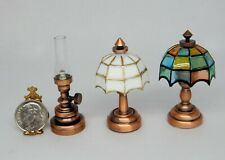 3 Battery Operated Lamps Lot Dollhouse Miniature 1:12