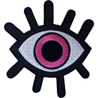 Evil Eye Patch Iron On Sew On Clothes Bag Embroidered Badge Embroidery Applique