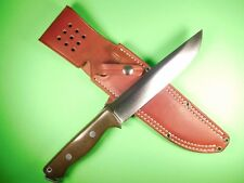 Bark River Knives Bravo 2 A2 Green Canvas Micarta with Leather Sheath RARE USA
