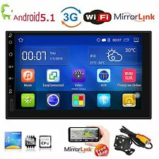 "Android 5.1 WIFI 7"" Double 2 Din Car Stereo Bluetooth FM Radio Player GPS Navi"