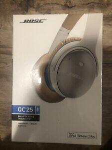 Bose QuietComfort 25 Acoustic Noise Cancelling Headphones - White QC25 - NEW