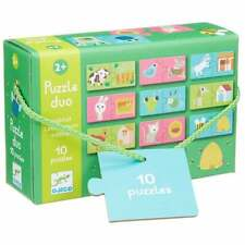 Djeco Duo Puzzle Habitat Set of 10 Two Piece First Puzzles