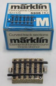 Marklin 5205 Ten Curved Track Sections (Box of 7) LN/Box