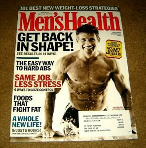 Men's Health Magazine January February 2003 Get Back In Shape