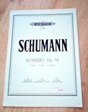 PARTITION PIANO SCHUMANN KONZERT OP 54 LA MINEUR  EDITIONS PETERS SCHUMANN