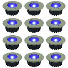 6 PACK BLUE LED SOLAR POWERED GARDEN DECKING DECK LIGHTS PATIO DRIVEWAY