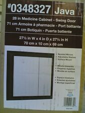 "NIB Classy 28"" Bathroom Vanity MIRROR Medicine CABINET (Java Finish)"