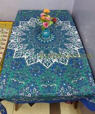Tablecloth Rectangular Cotton Dining Table Cover Elephants Kitchen Banquet SC16