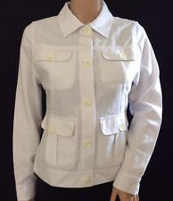 Rohan Ladies White Travel Linen Safari Jacket Size XS