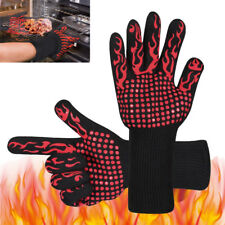 Extreme BBQ Heat Resistant Silicone Gloves Kitchen Oven Cooking 932℉ Hot Mitts