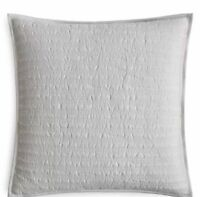 Hudson Park Collection Bellance EURO Quilted Pillowsham - Silver- NEW